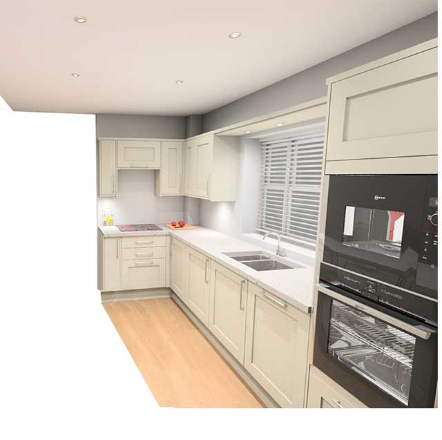 New kitchen layout from Howdens